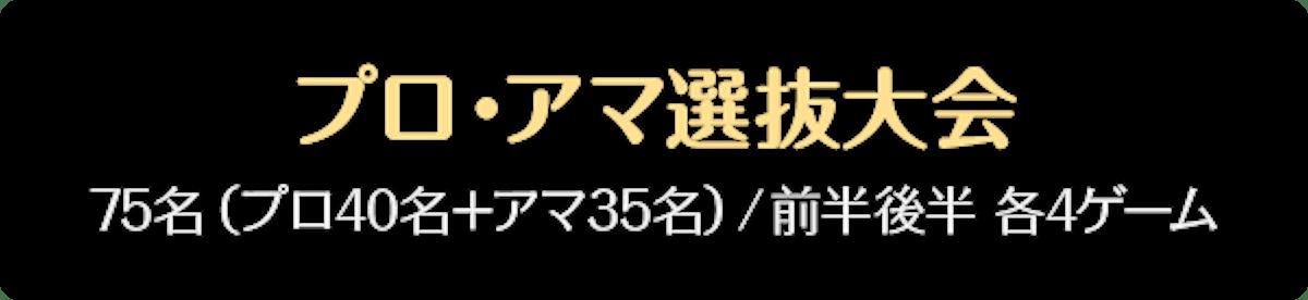 プロ・アマ選抜大会